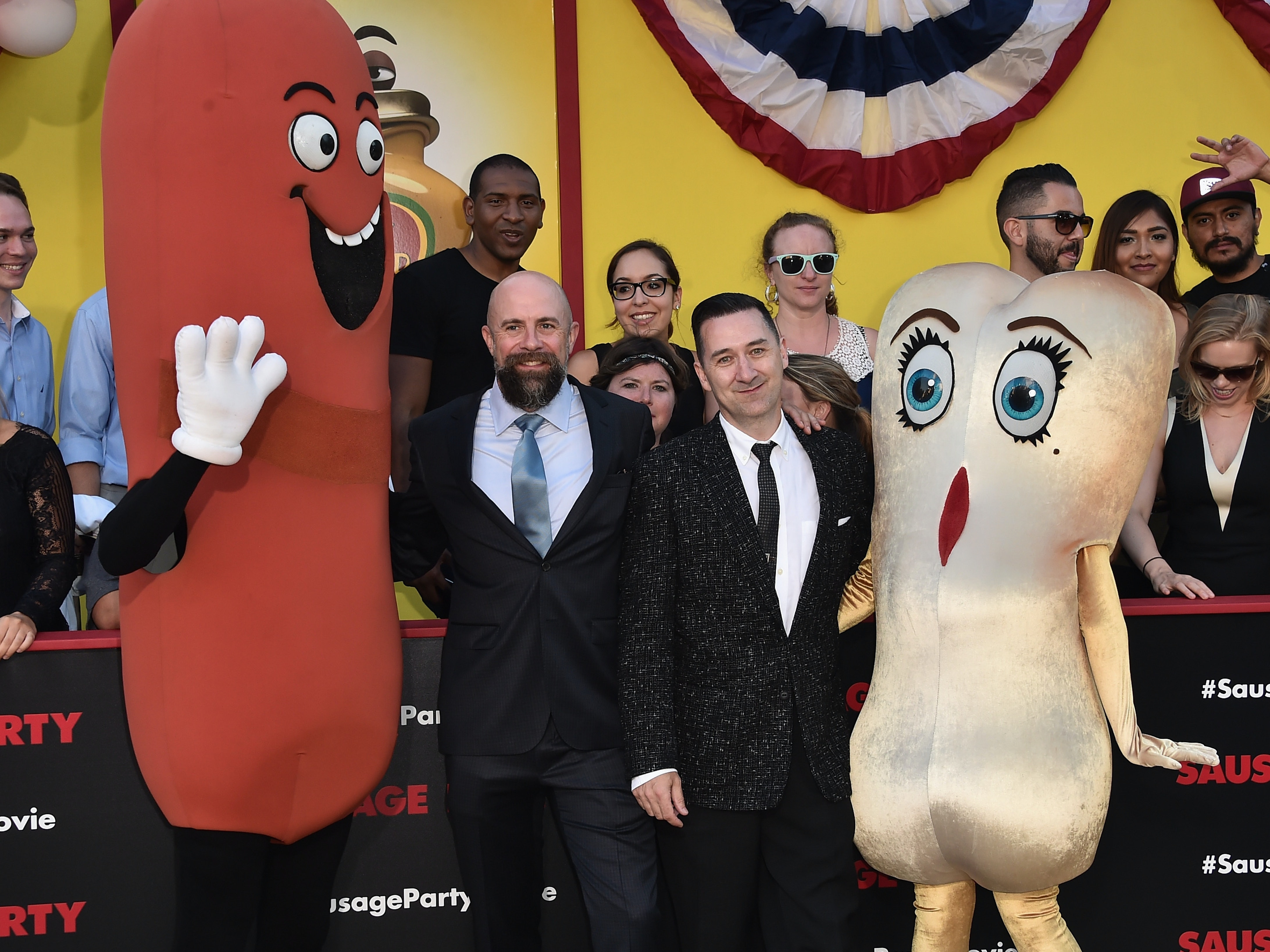 WESTWOOD, CA - AUGUST 09:  Directors Conrad Vernon and Greg Tiernan attend the premiere of Sony's 'Sausage Party' at Regency Village Theatre on August 9, 2016 in Westwood, California.  (Photo by Alberto E. Rodriguez/Getty Images)