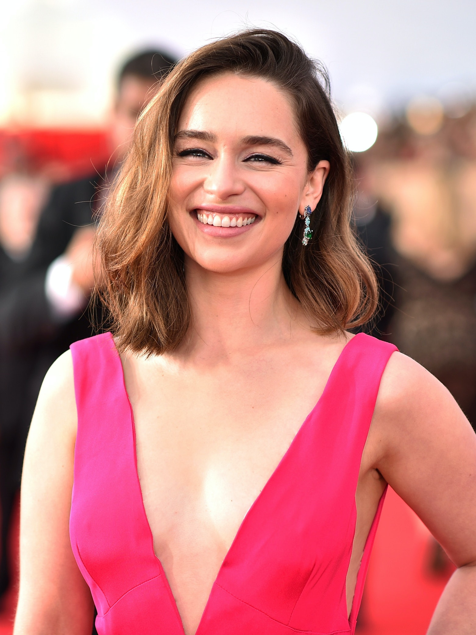 Actress Emilia Clarke attends The 22nd Annual Screen Actors Guild Awards at The Shrine Auditorium on January 30, 2016 in Los Angeles, California. 25650_013