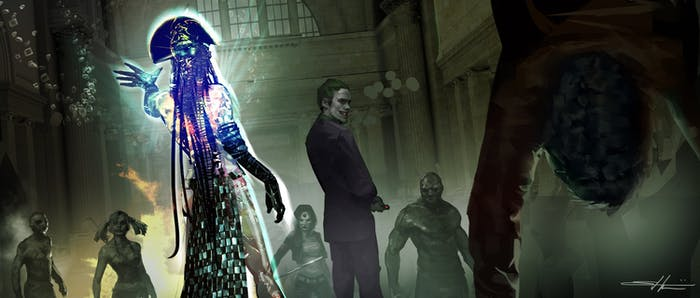 Joker and Enchantress concept art for 'Suicide Squad'