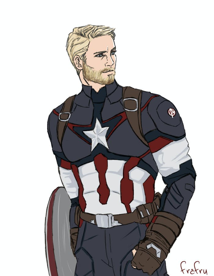 Whats Up With Captain America and His Beard in Infinity War