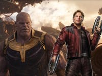 'Avengers: Infinity War' Thanos and Star-Lord
