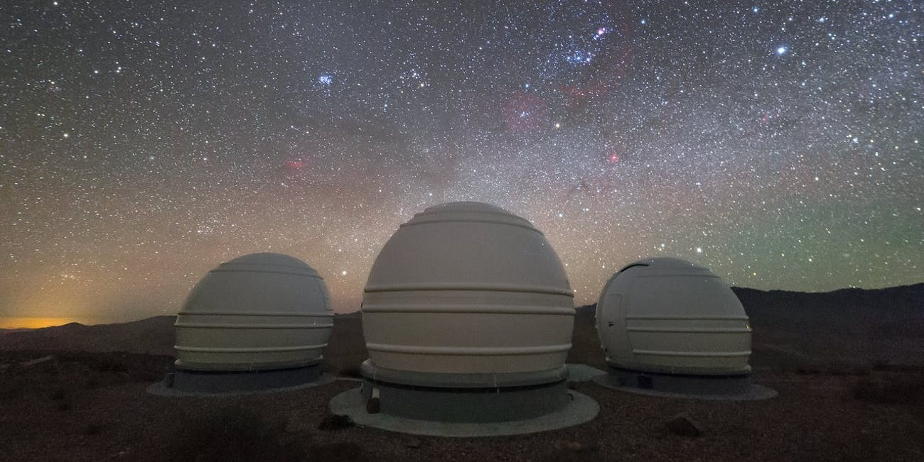 The ExTrA telescopes are sited at ESO's La Silla Observatory in Chile. They will be used to search for and study Earth-sized planets orbiting nearby red dwarf stars.