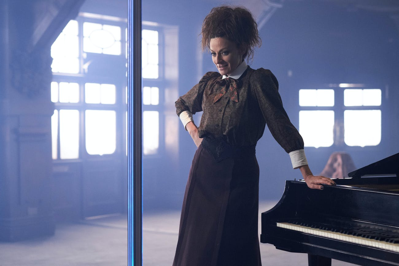 """Missy as she appears in Episode 8: """"The Lie of the Land"""""""