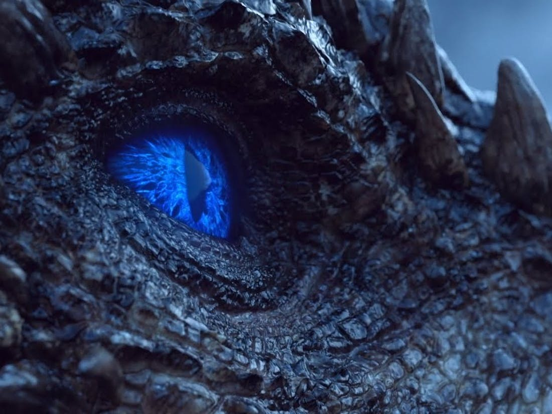 Viserion has become an undead ice dragon.