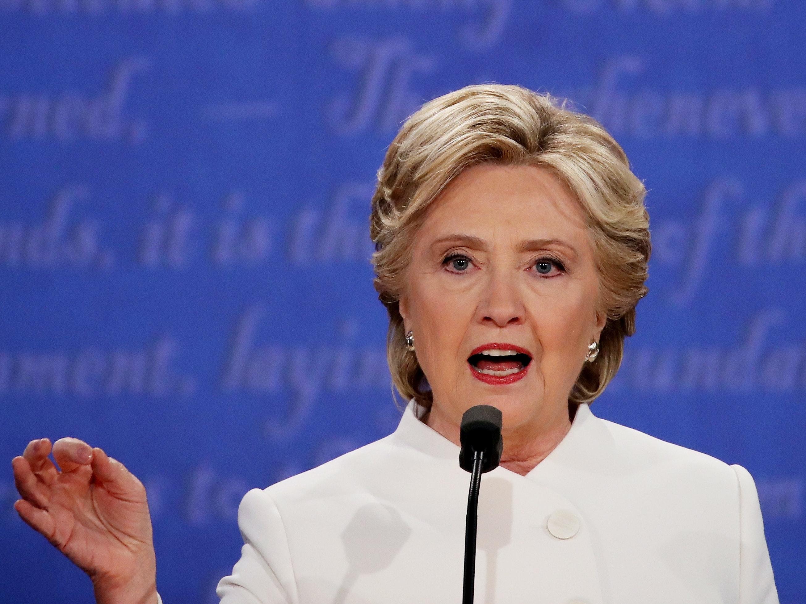 Hillary Clinton during the third presidential debate.