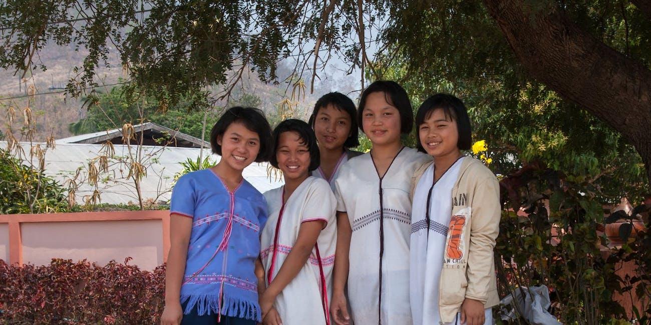 S'gaw Karen girls of Khun Yuam District, Mae Hong Son Province, Thailand.