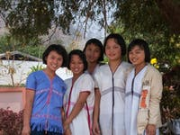 S'gaw Karen girls of Khun Yuam District, Mae Hong Son Province, Thailand.