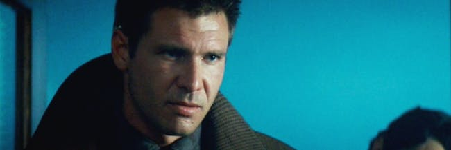 Harrison Ford as Rick Deckard in the original 'Blade Runner.'