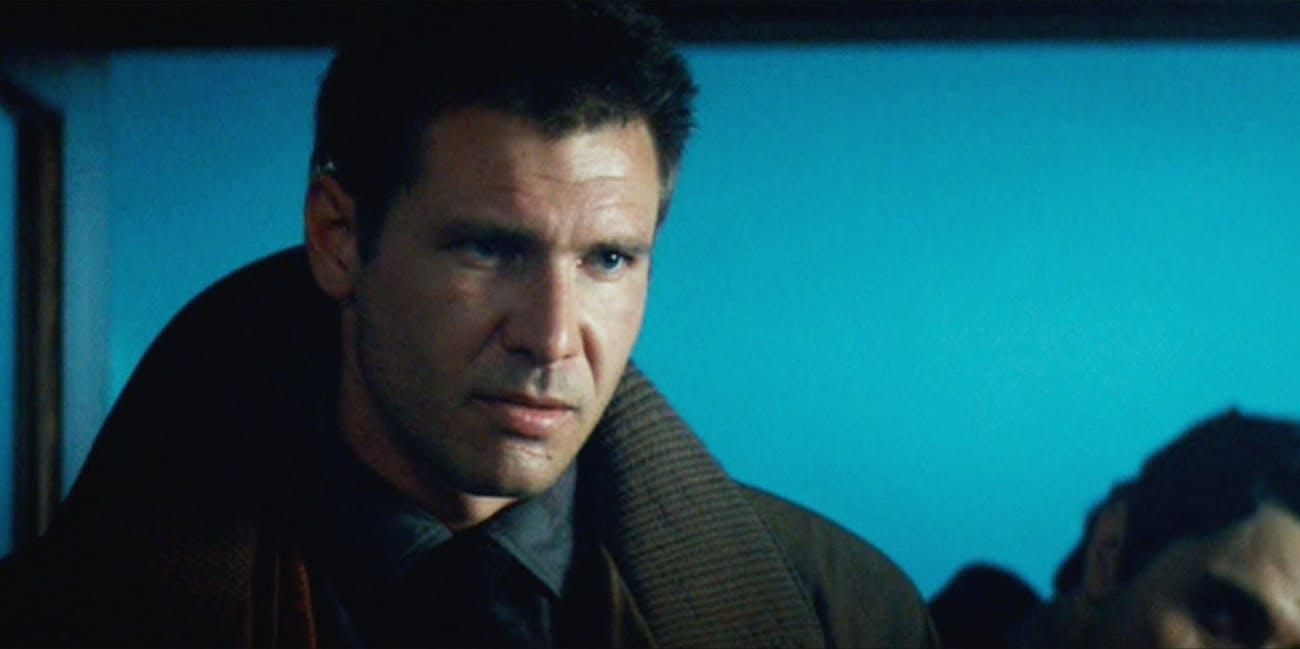 Harrison Ford as Rick Deckard in the original 'Blade Runner.'