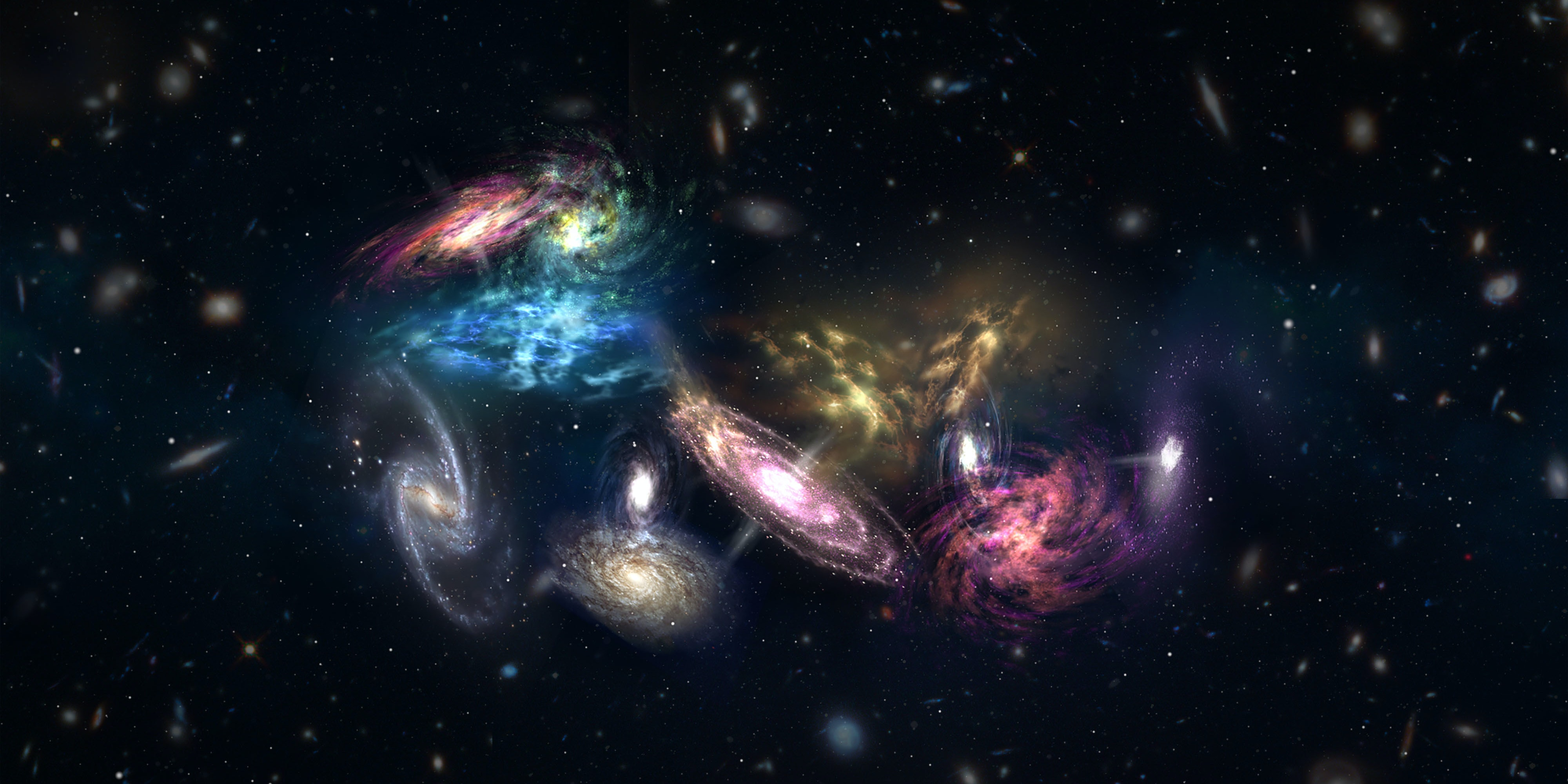 "Astronomers Witness a Galactic ""Megamerger"" from the Beginning of the Universe"