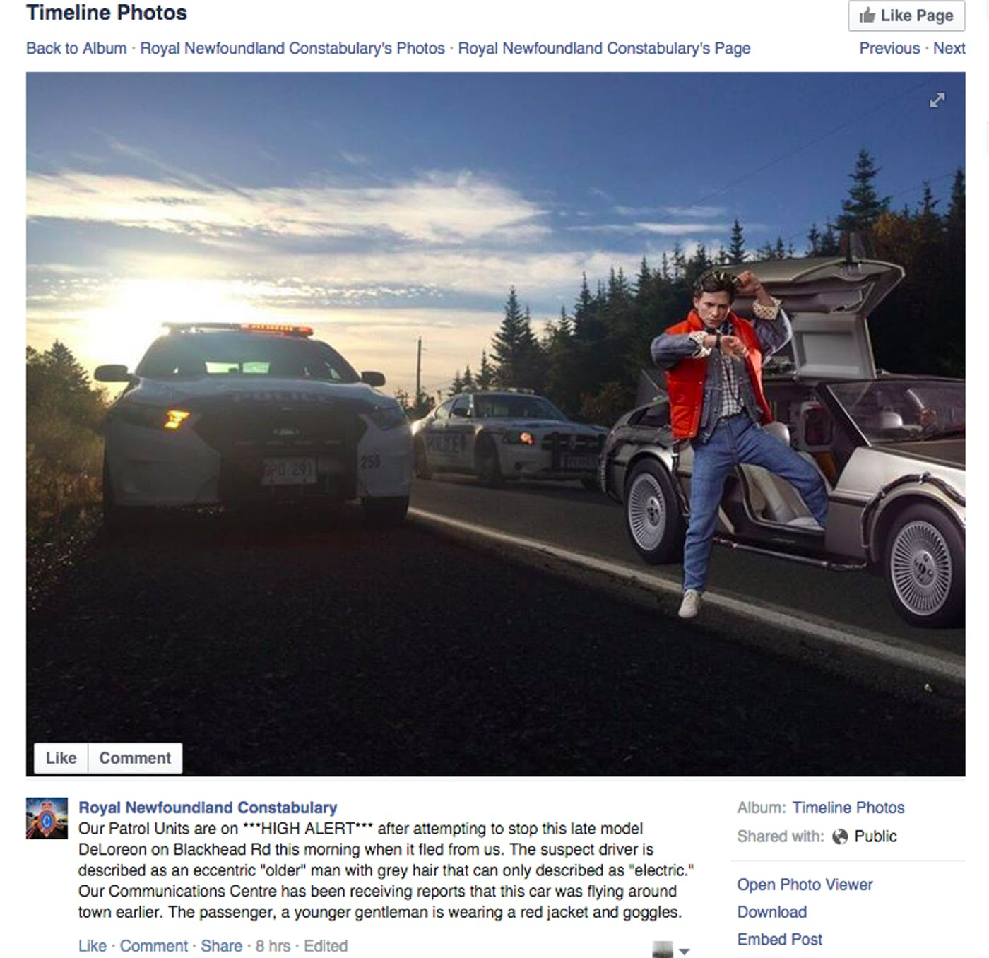 Police Around the World Sure Love 'Back to the Future' Day