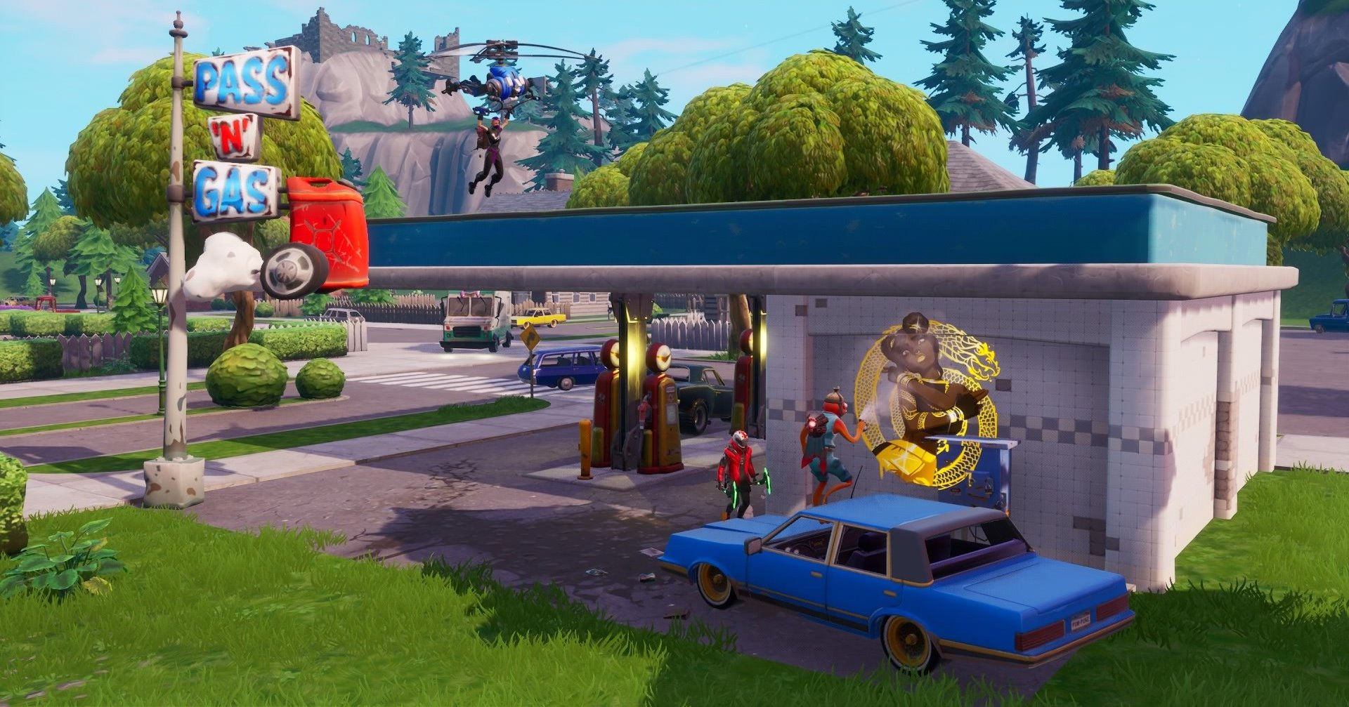 Fortnite Gas Station Locations Where To Spray Them For
