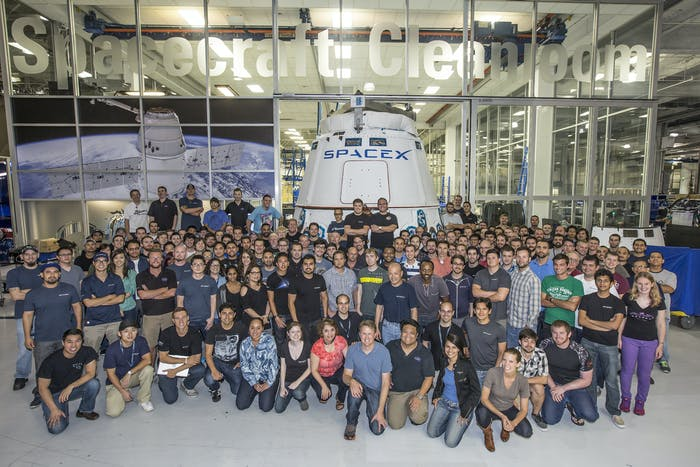 SpaceX Crew Photo from 2014.