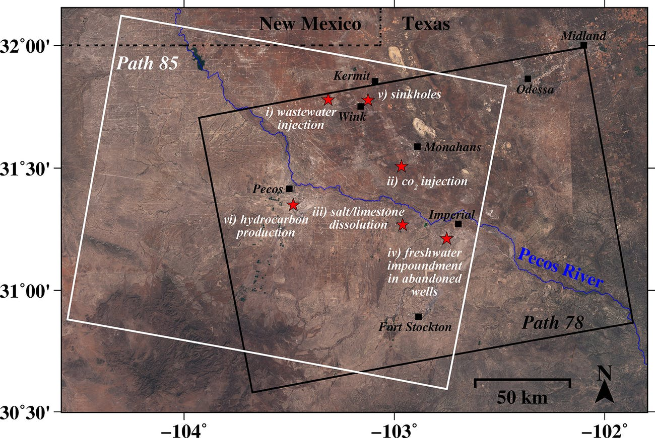 west texas oil country sinkholes