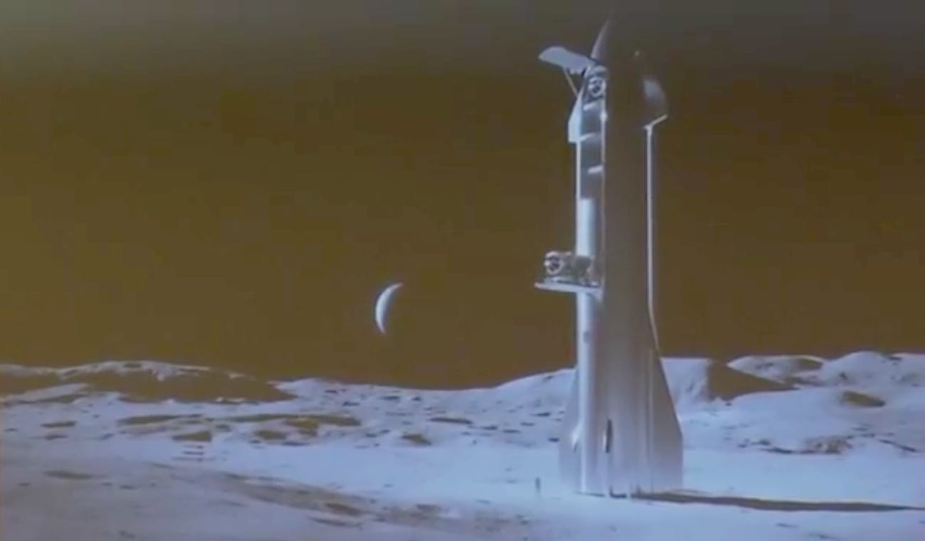 The Starship on the moon.
