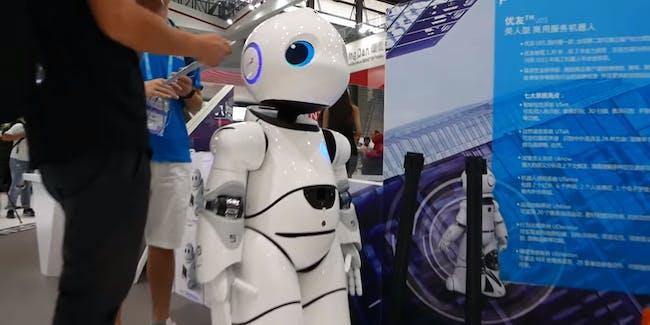 robot droid human uncanny valley machine CES 2017 Asia