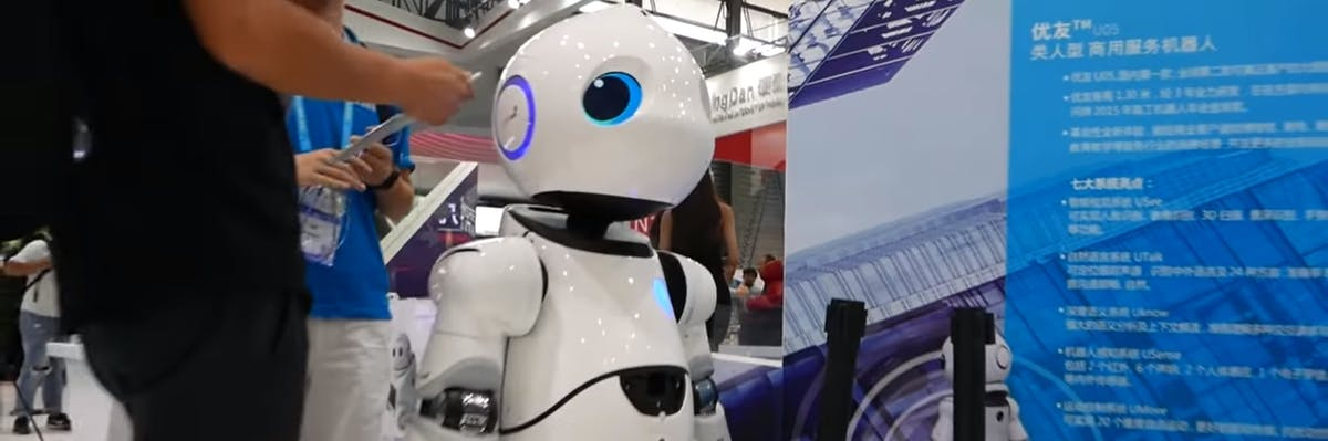robot droid human uncanny valley machine CES 2017 Asia
