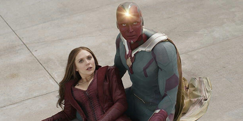 Wanda Maximoff (Elizabeth Olsen) and Vision (Paul Bettany) in 'Captain America: Civil War'