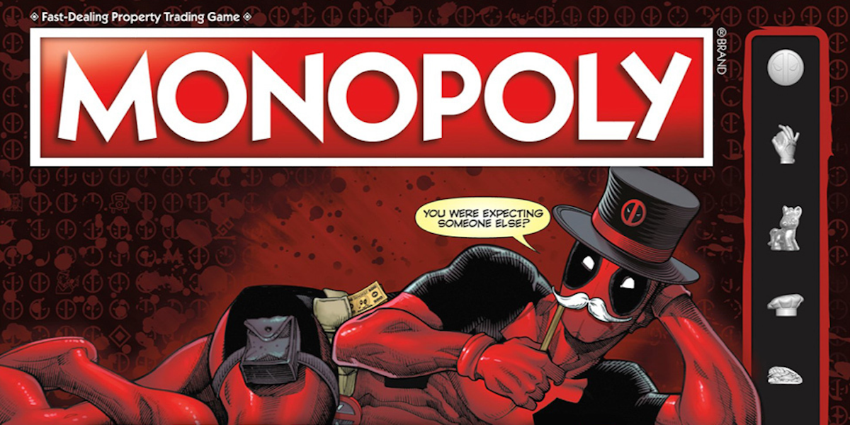 Deadpool's Getting His Own Nerf Guns and Monopoly to Corrupt Children |  Inverse