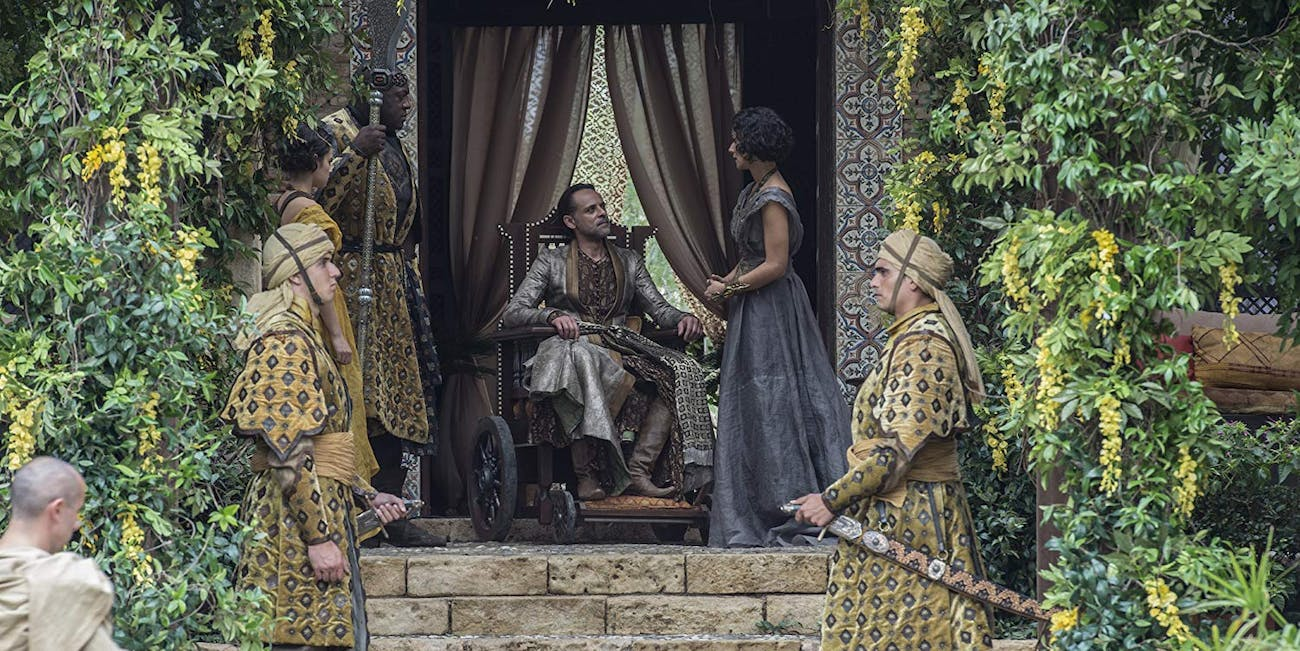 Alexander Siddig and Indira Varma on 'Game of Thrones'