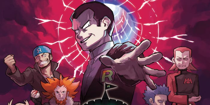You'll need a lot of strong Pokémon to take on a supervillain team like Team Rainbow Rocket.