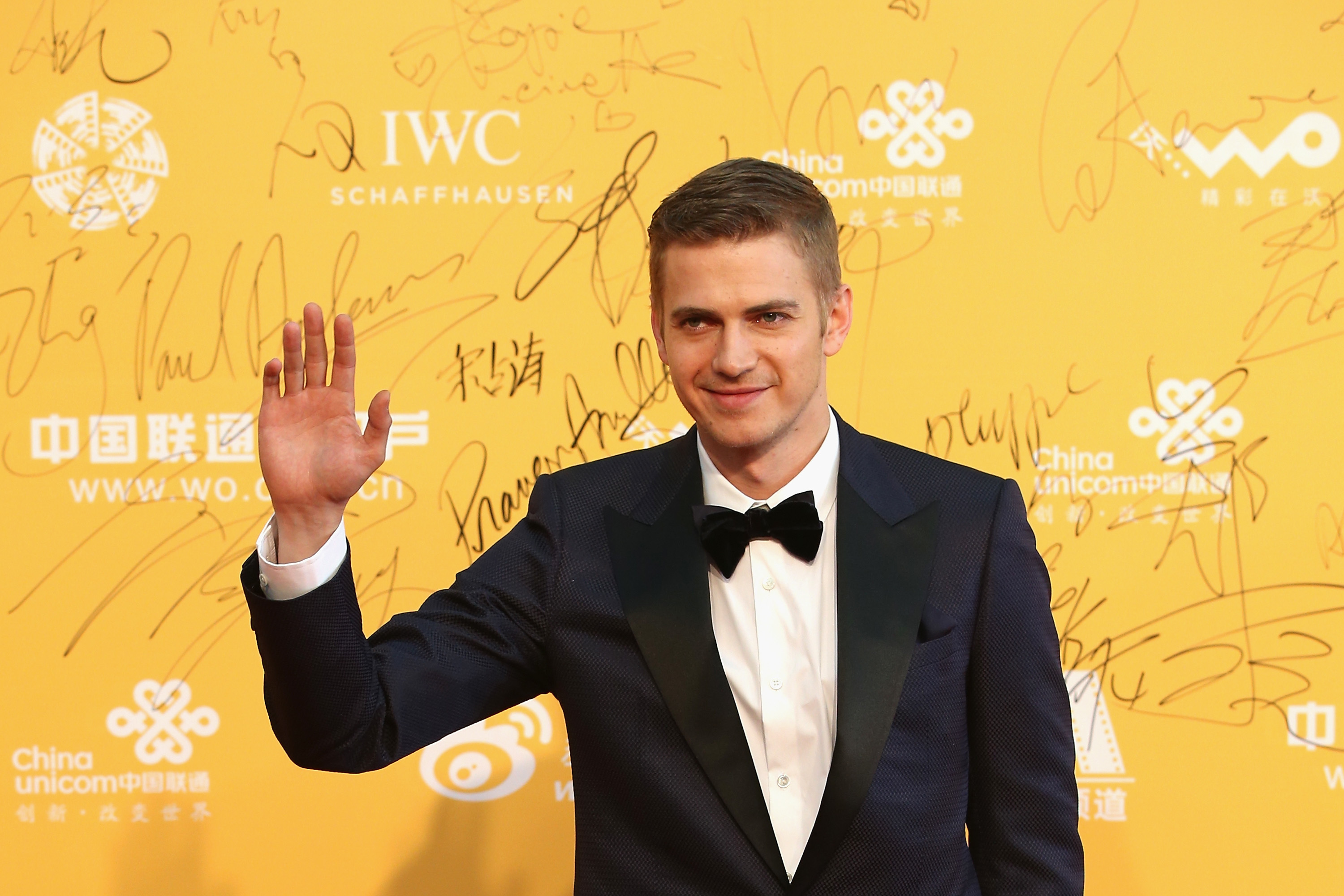 BEIJING, CHINA - APRIL 16:  Actor Hayden Christensen arrives for the red carpet of 4th Beijing International Film Festival at China's National Grand Theater on April 16, 2014 in Beijing, China.  (Photo by Feng Li/Getty Images)