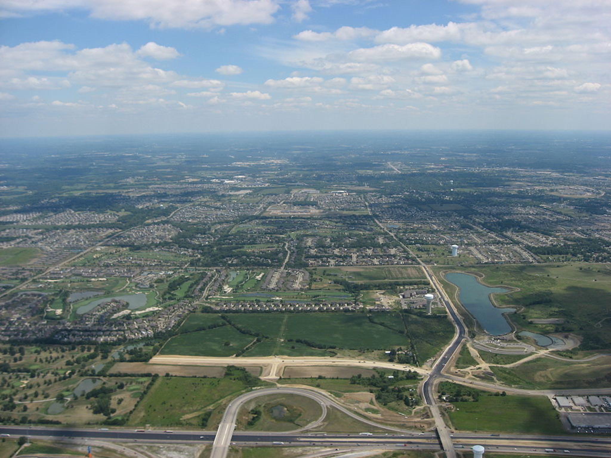 mason ohio aerial view