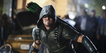 Stephen Amell as Oliver Queen, aka the Green Arrow, in 'Arrow'.