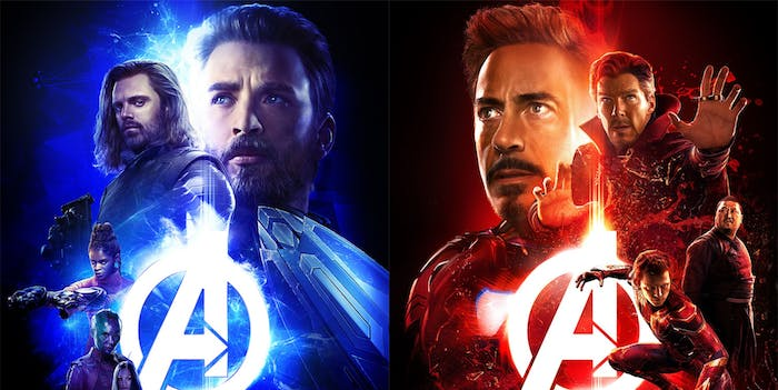 The new 'Avengers: Infinity War' posters show many of the team-ups we'll see in the movie.