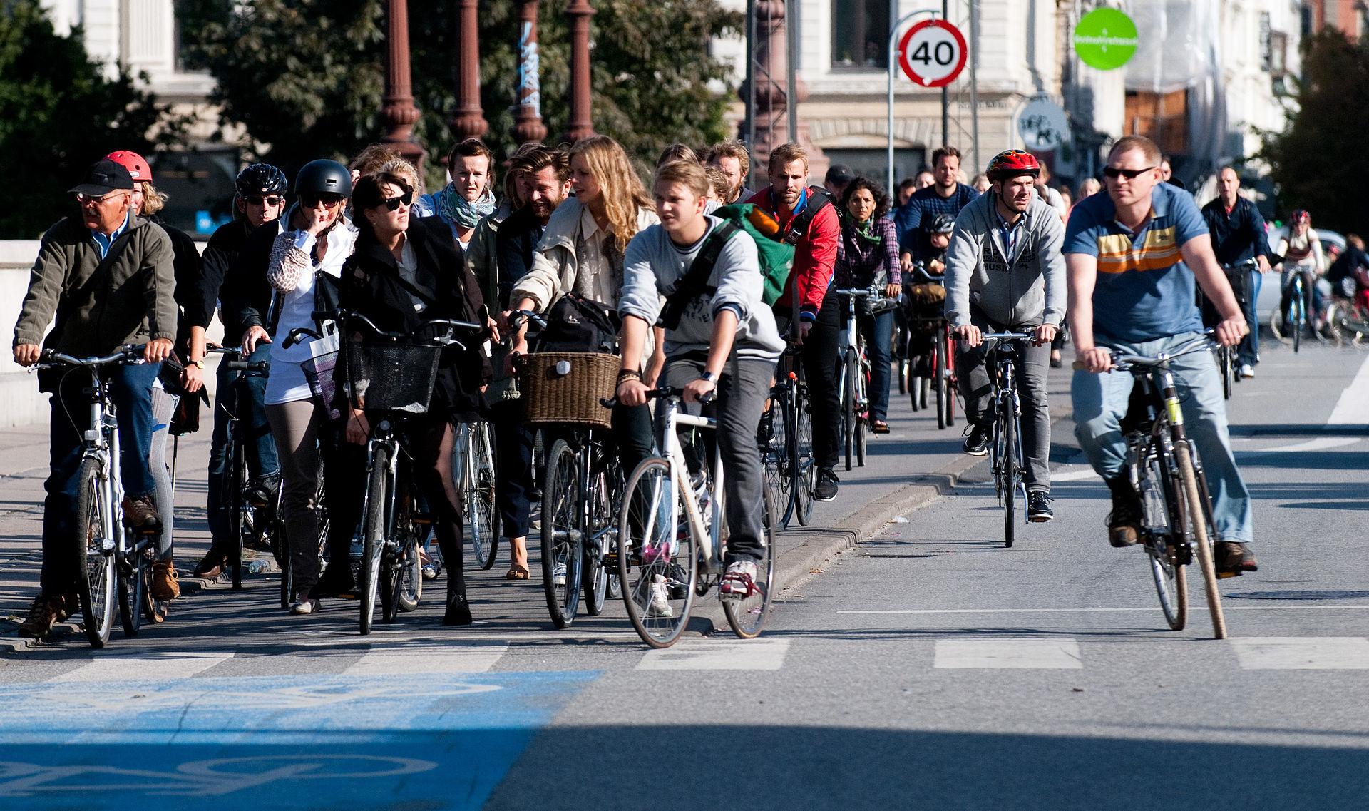 Rush hour in Copenhagen.