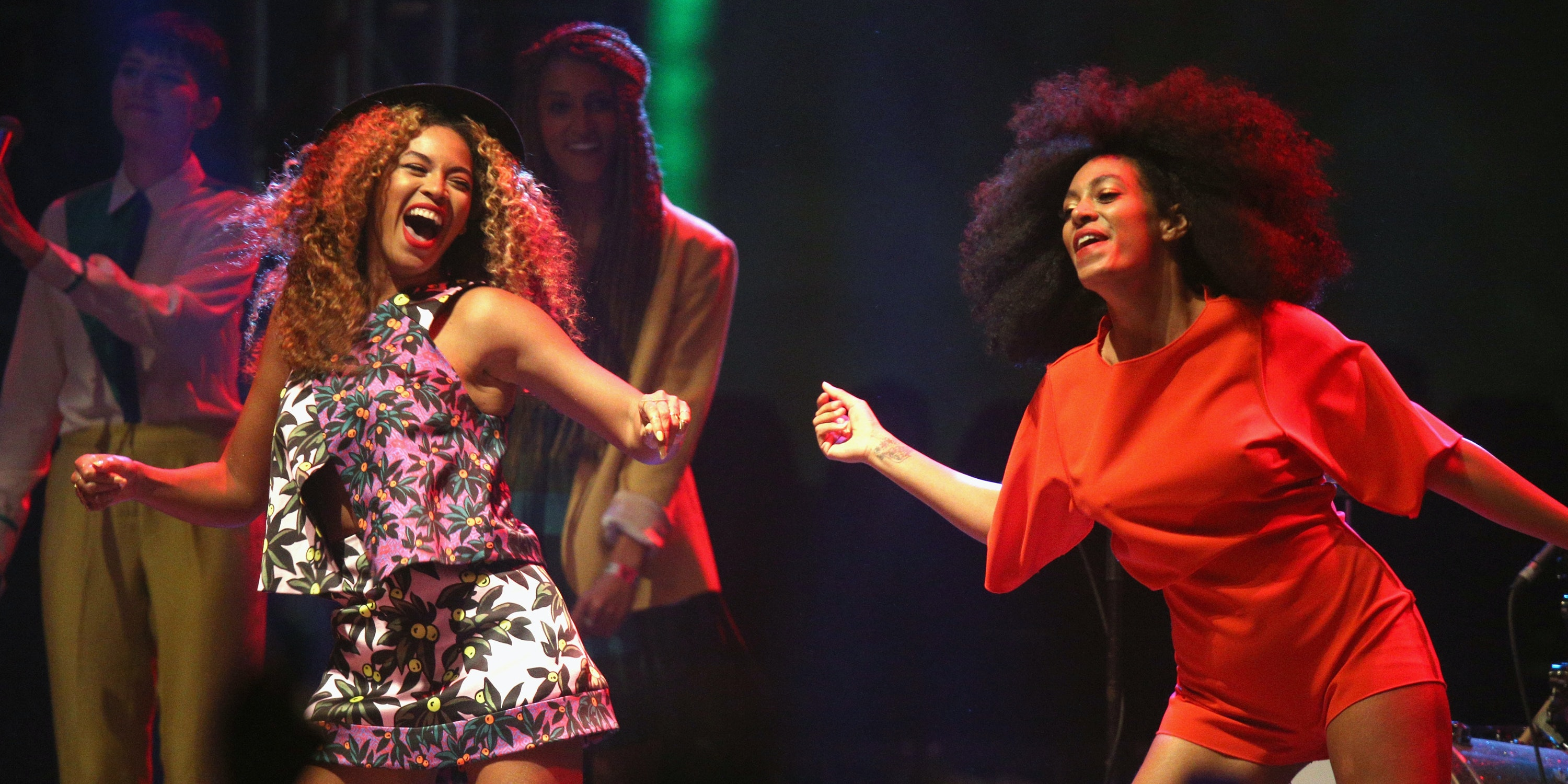 Beyonce and Solange Knowles at the 2014 Coachella Festival.