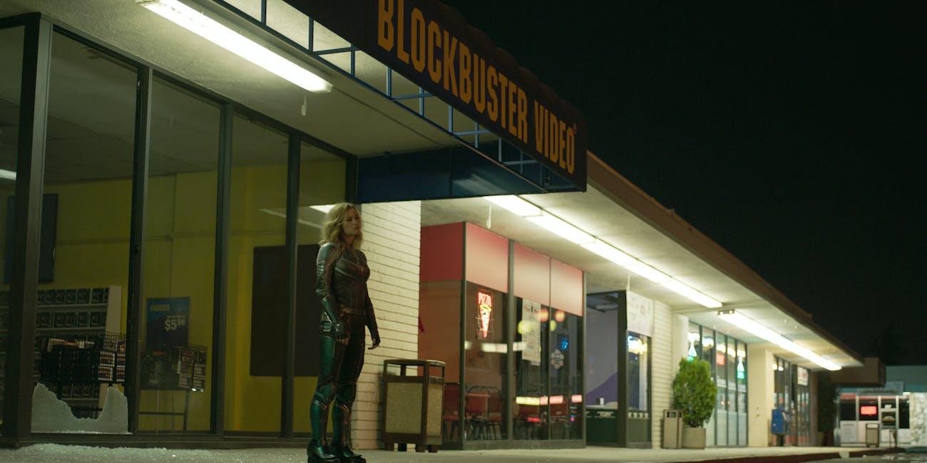 Captain Marvel Blockbuster Video