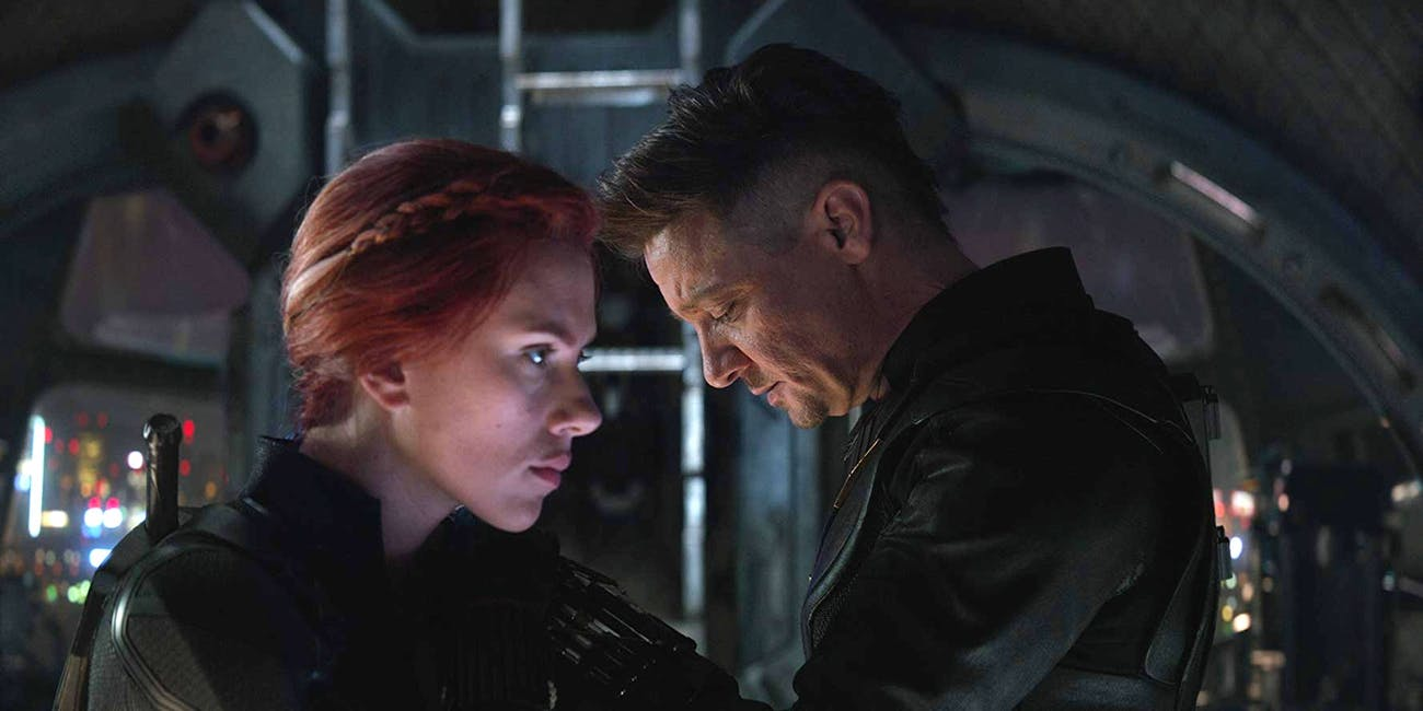 Scarlett Johansson and Jeremy Renner in 'Avengers: Endgame'