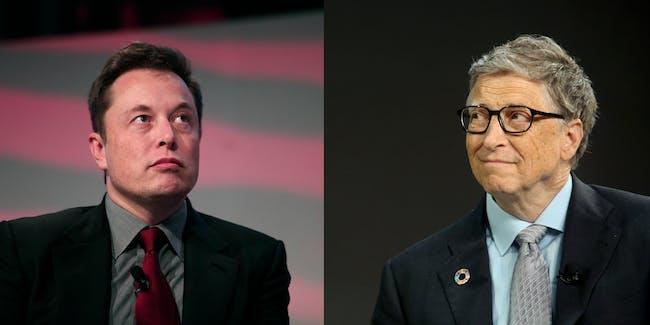 Elon Musk and Bill Gates headshots