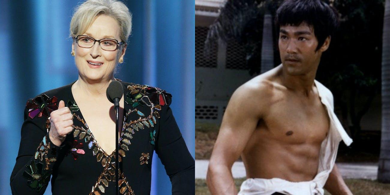 Bruce Lee Meryl Streep MMA