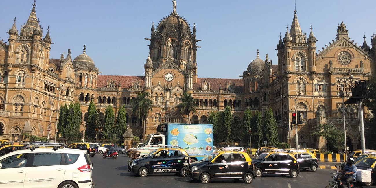 Victoria train station in Mumbai
