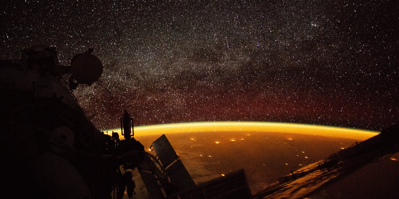 airglow from ISS