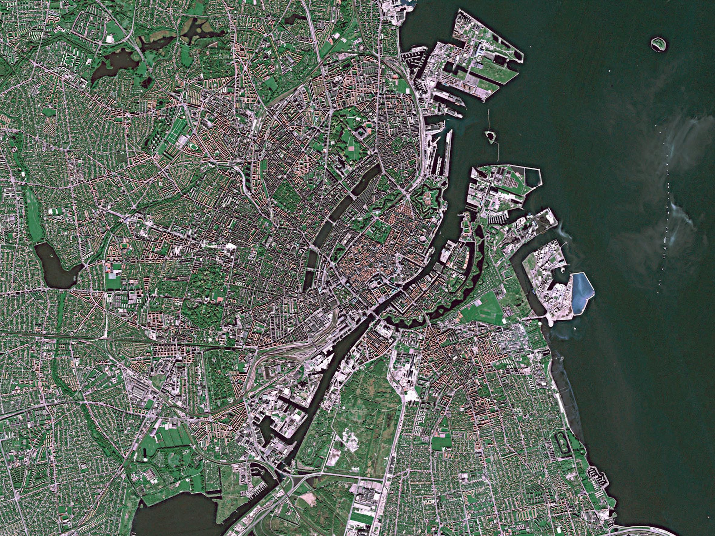 Copenhagen from above.