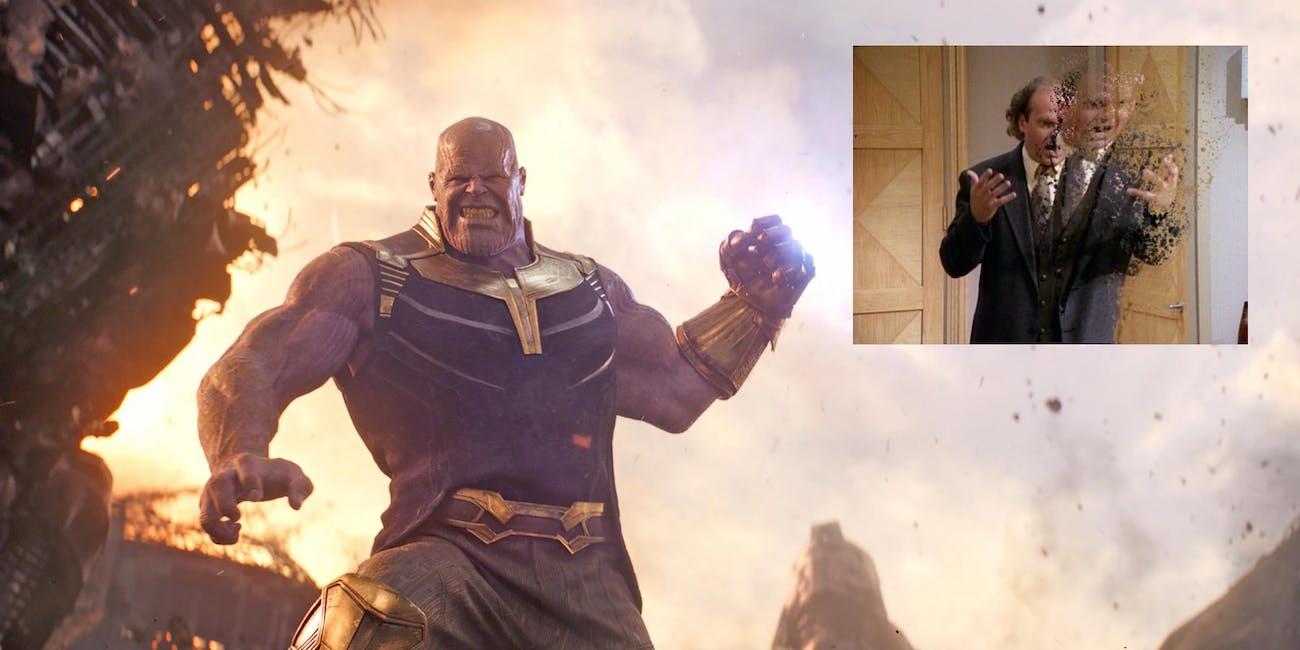 'Avengers: Infinity War' spawned the resurrection of the disintegration meme effect.