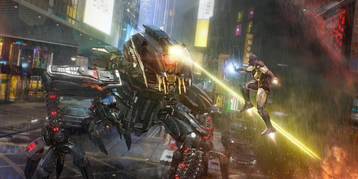 Concept Art for Iron Man Experience at Hong Kong Disneyland