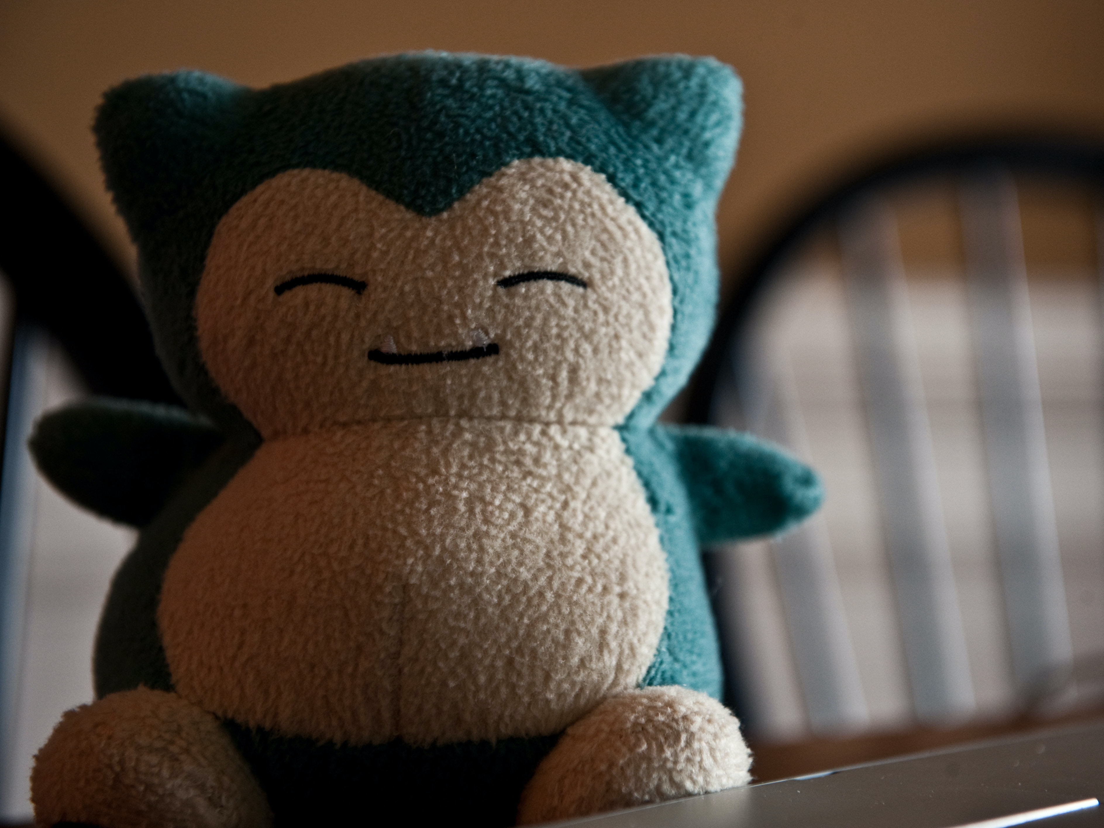 An immensely fluffy representation of Snorlax.