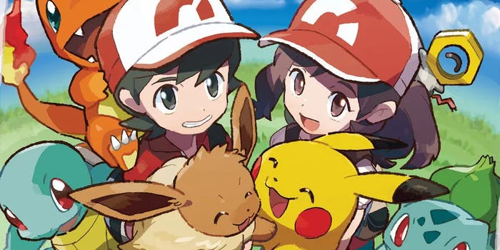 'Pokemon Let's Go' Bulbasaur, Squirtle, and Charmander