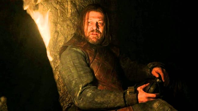 Ned was visited by Varys several times while held captive in the Red Keep.