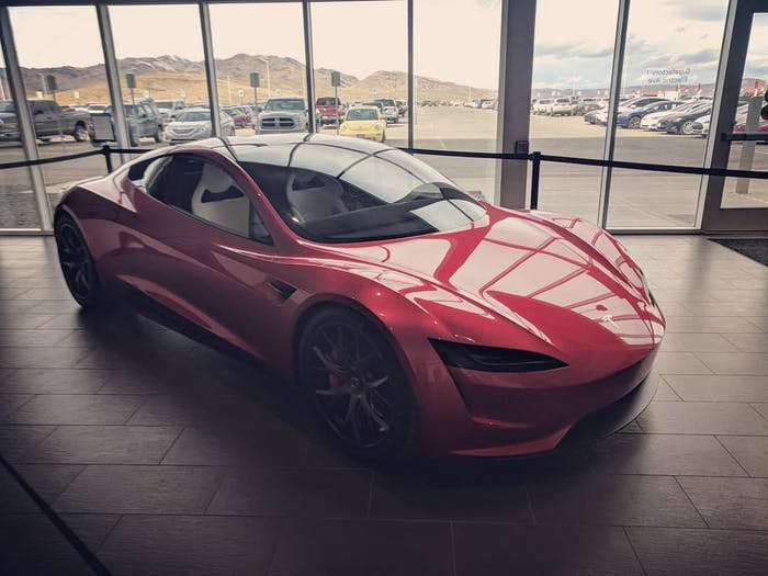 Tesla Roadster at Gigafactory