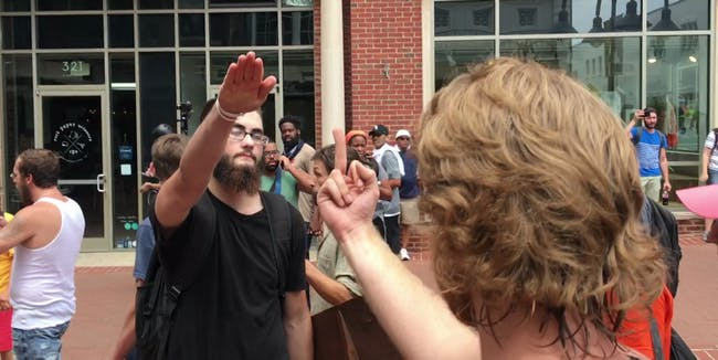 The first Unite the Right rally