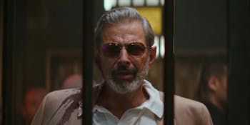 Jeff Goldblum plays a crime boss looking for a weapon in 'Hotel Artemis'.