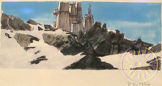 Concept art for Bast Castle from 'The Empire Strikes Back'