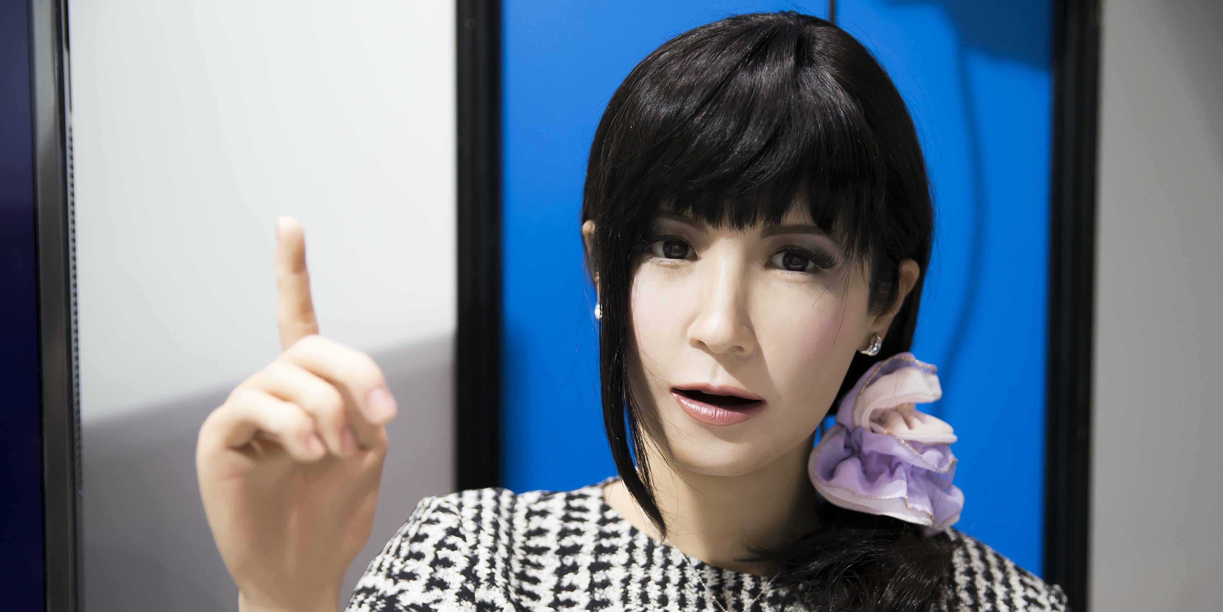 TOKYO, JAPAN - JANUARY 18:  Humanoid robot 'Mirai Madoka' is demonstrated at the Robodex (Robot Development & Application Expo) trade show on January 18, 2017 in Tokyo, Japan. Approximately 160 exhibitors participated in the trade show which covers development technology of robots through to the application of robots.    (Photo by Tomohiro Ohsumi/Getty Images)