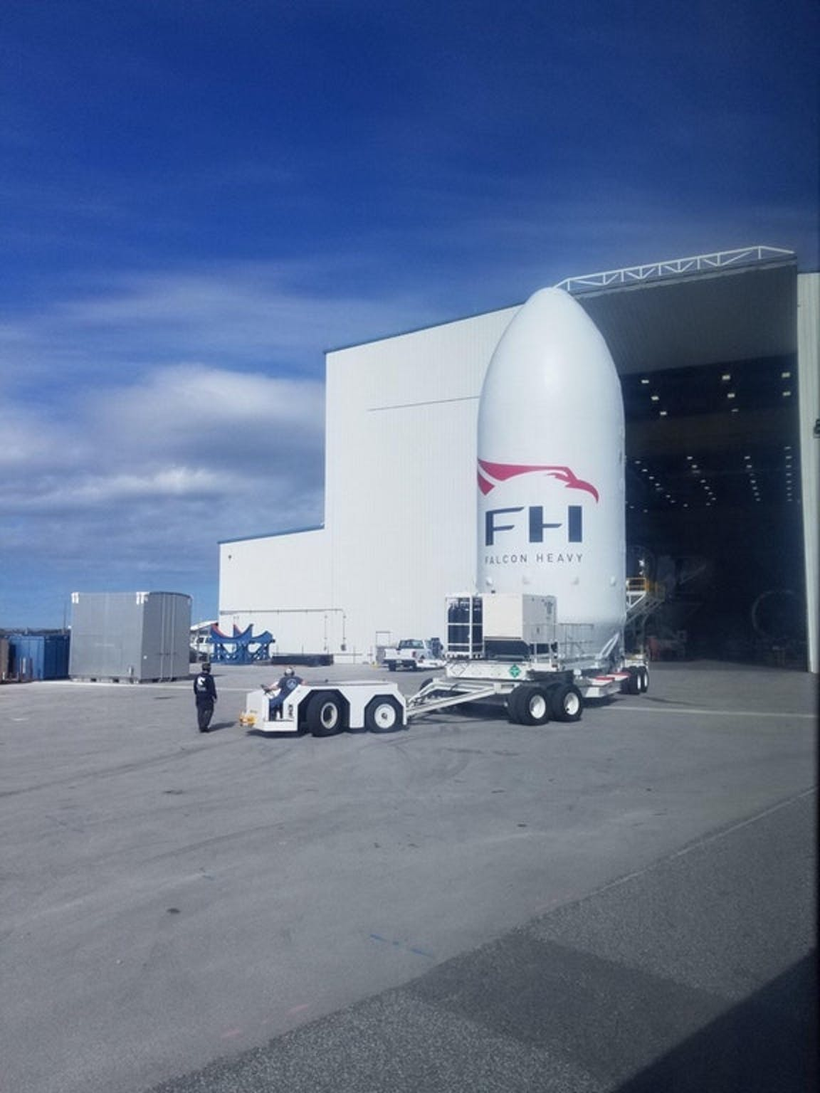 SpaceX Falcon Heavy Fairing Spotted At Cape Canaveral | Inverse
