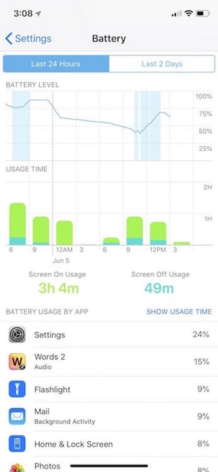 ios 12 apple battery transparency